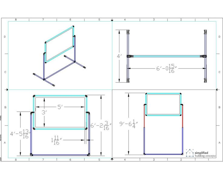 Instructions on how to build a portable projector screen stand.