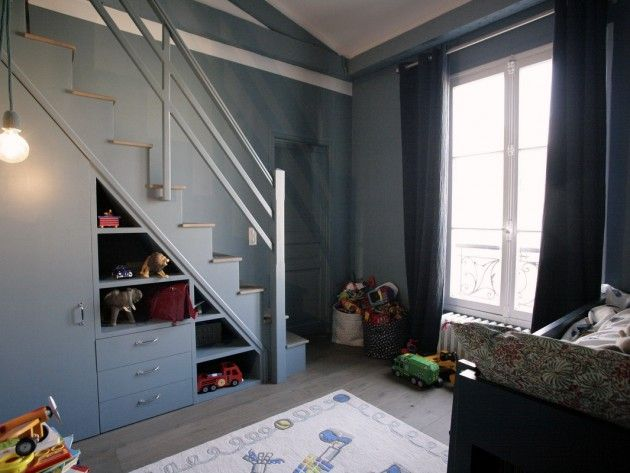 17 best images about id es mezzanine on pinterest closet bed built in bunk - Rangements sous escalier ...