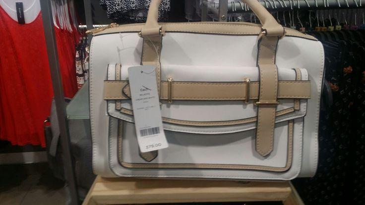 White and tan handbag, Miladys