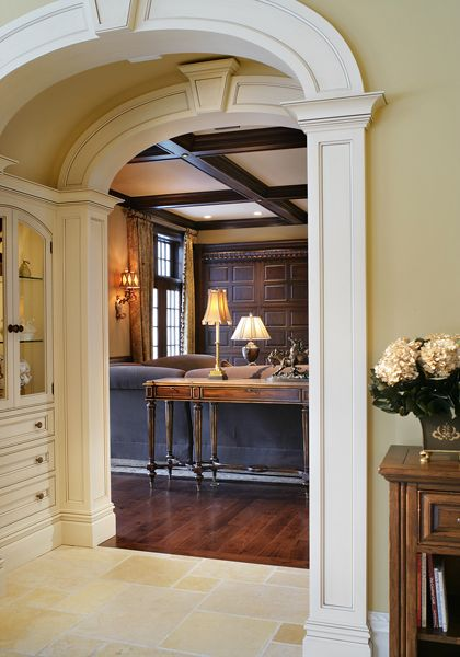 202 best classic neutral interiors images on pinterest for Decorative archway mouldings