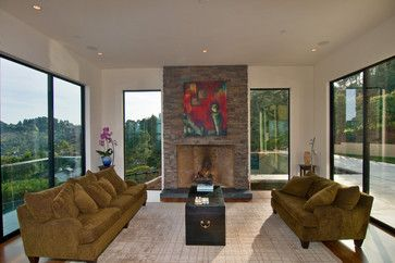 California - Luxury Residental Homes - contemporary - living room - Western Window Systems