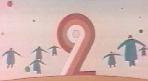 Années 70 -  Sur Antenne 2, l'ouverture et la fermeture des programmes est confiée à l'artiste belge Jean-Michel Folon et au compositeur Michel Colombier qui nous offrent des hommes volants d'une poésie rare à la télévision.