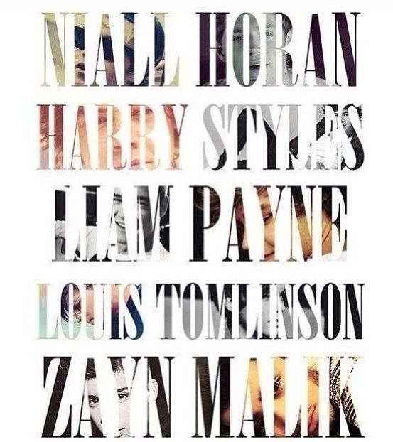518 best ♥music & bands♥ images on Pinterest | Bands ... One Direction Names In Words