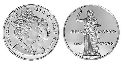 "During wartime people often came to Juno for warning/counsel. As a warning that a Gallic army was approaching the walls of the city, her geese made lots of noise in the Moneta temple. People also came to the Moneta (mint, monetary, and money come from her name) temple for monetary support which is why Juno is seen on a few modern day coins.  Image from: Homren, Wayne. ""JUNO MONETA, GODDESS OF MONEY."" JUNO MONETA, GODDESS OF MONEY. The Numismatic Bibliomania Society, 2012. Web. 22 Apr. 2017."