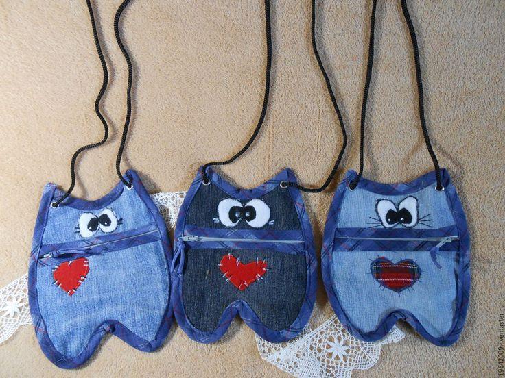 Купить Джинсовые пеналы,сумочки - пенал, косметичка, ключница, сумочка детская, упаковка для конфет, подарок