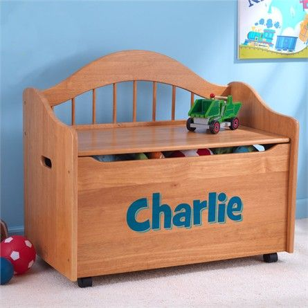 Personalized Limited Edition Toy Box - Honey #rosenberryrooms