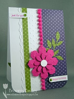 Pretty colours. great use of edges. by Bronwyn Eastley ... addINKtive designs. Stampin' Up! SU: