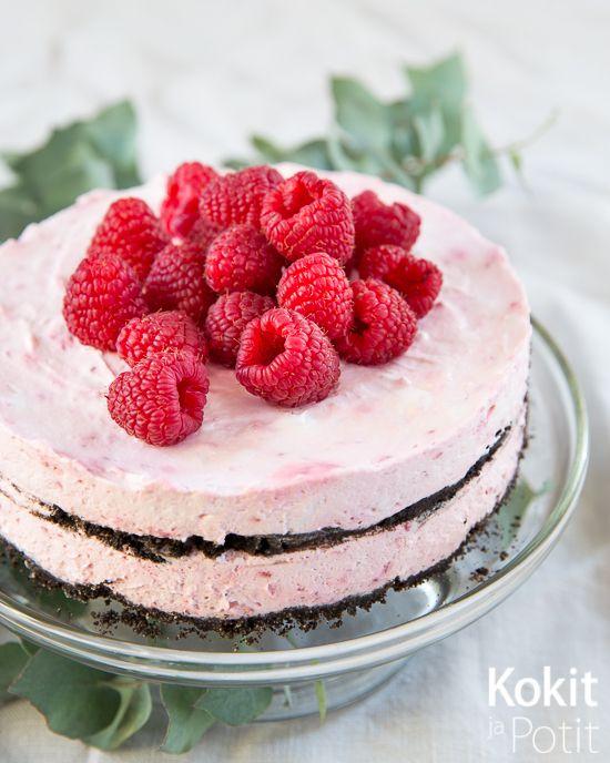 Kokit ja Potit -ruokablogi: Suklaa-vadelma ice box -kakku