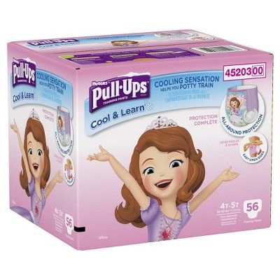 Huggies Pull-Ups Girls Cool and Learn Training Pants Giga Pack 4T-5T (56 ct)