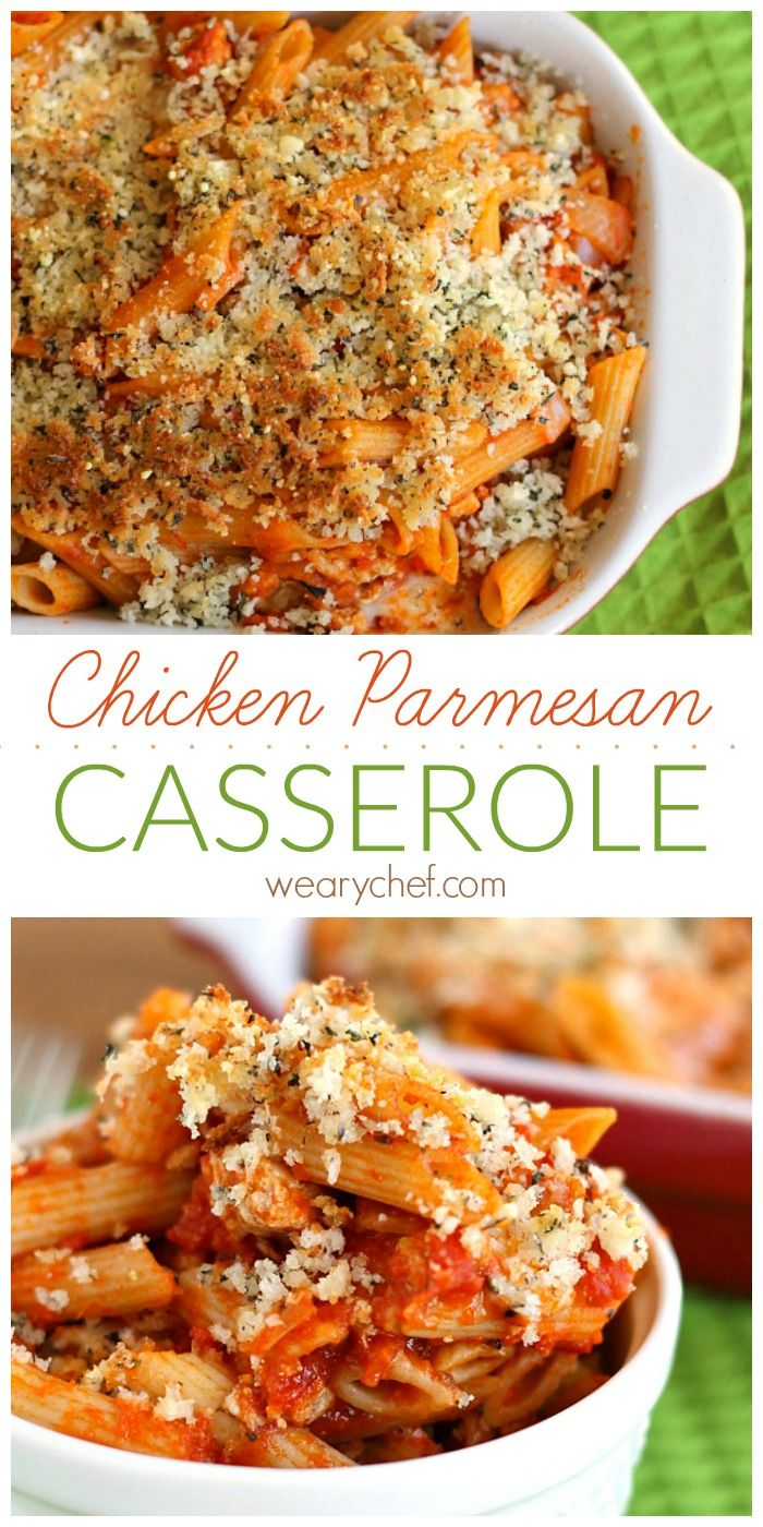 Chicken Parmesan Casserole - Enjoy the flavor of a classic Italian dish the easy way!