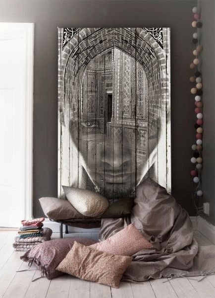 Artful comfy corner - the image is wonderfully contemporary, almost haunting - if I woke up to it, I'd probably shit myself
