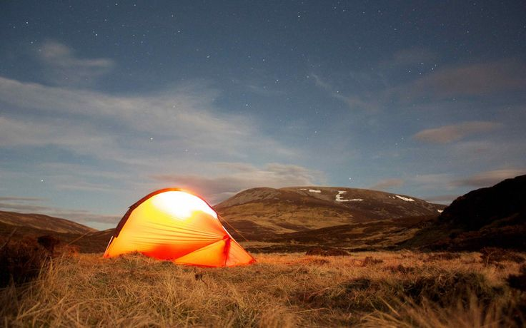In Scotland you're allowed to pitch a tent almost anywhere. Wild camping is a great way to explore remote areas, but make sure you follow the guidelines in the Scottish Outdoor Access Code if you head into the great unknown.