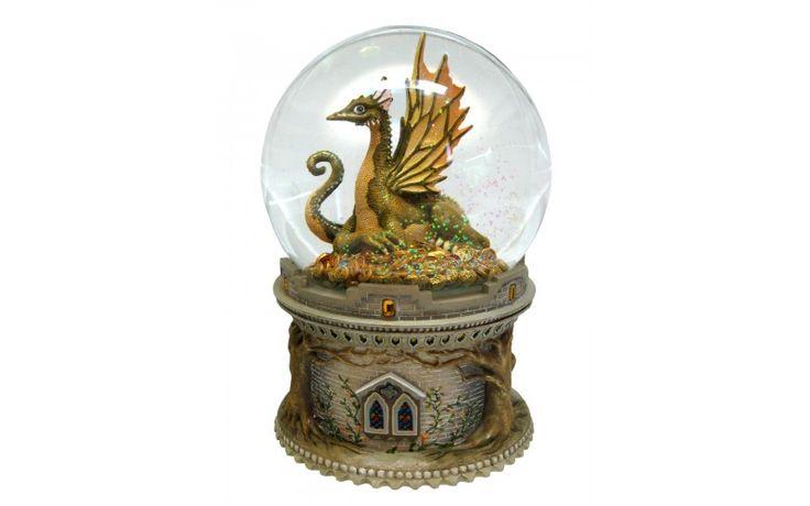 Dimension: 120 mm. Fonction: musique, rotation et brillants.   Mélodie: Camelot.  Base de résine, globe en verre.