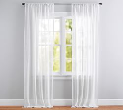 add breezy style to any room with pottery barnu0027s sheer curtains find window sheers and sheer curtain panels and add effortless style to the windows - Window Sheers