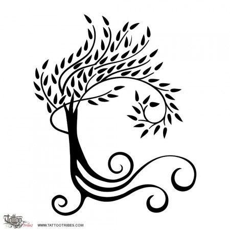 Spiraling Tree Tattoo