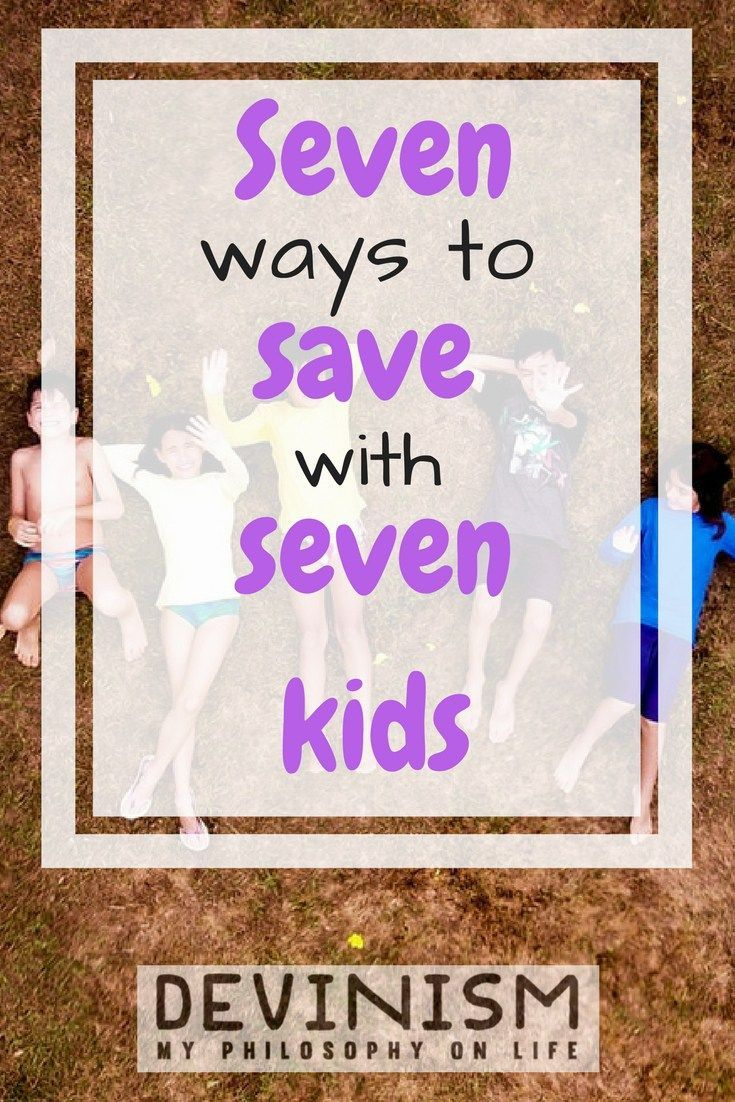 Have a lot of children in your house?  Here are some simple tips to help you live a frugal and thrifty lifestyle in spite of high childcare costs!  Seven Ways to Save with Seven Kids | The Crazy Shopping Cart