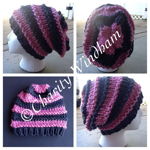 Knit Slouchy Hat Pattern Bulky Yarn : 1971 best images about Crochet Hats and headbands on ...