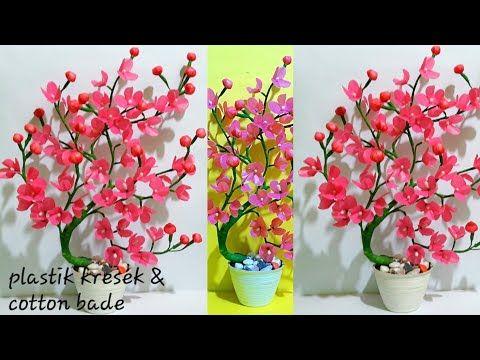 Bunga Sakura Dari Plastik Kresek Youtube Bunga Sakura Bunga Kertas Bunga