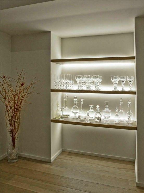 Inspired LED- Shelving accent LED lighting #LED #lighting #display