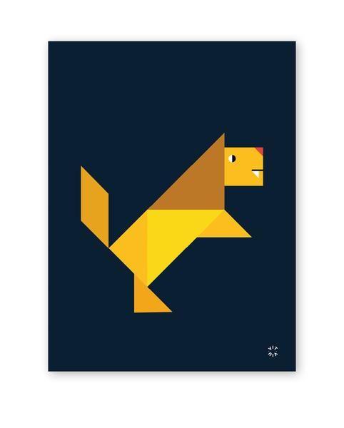 TANGRAM poster - Lion