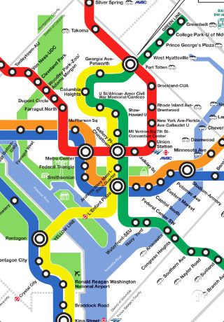 Always have a free subway and Metro map in your pocket with the DC Metro Map app for your iPhone that lets you pinch, scroll, and zoom for easy reading.