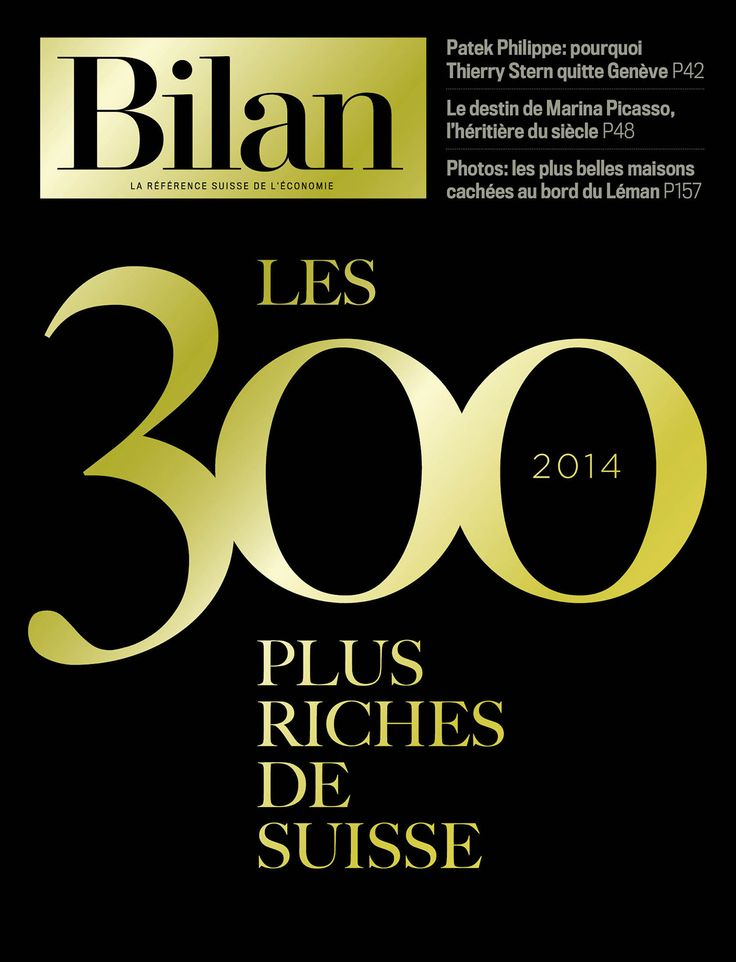 300 plus riches de Suisse 2014, Bilan.
