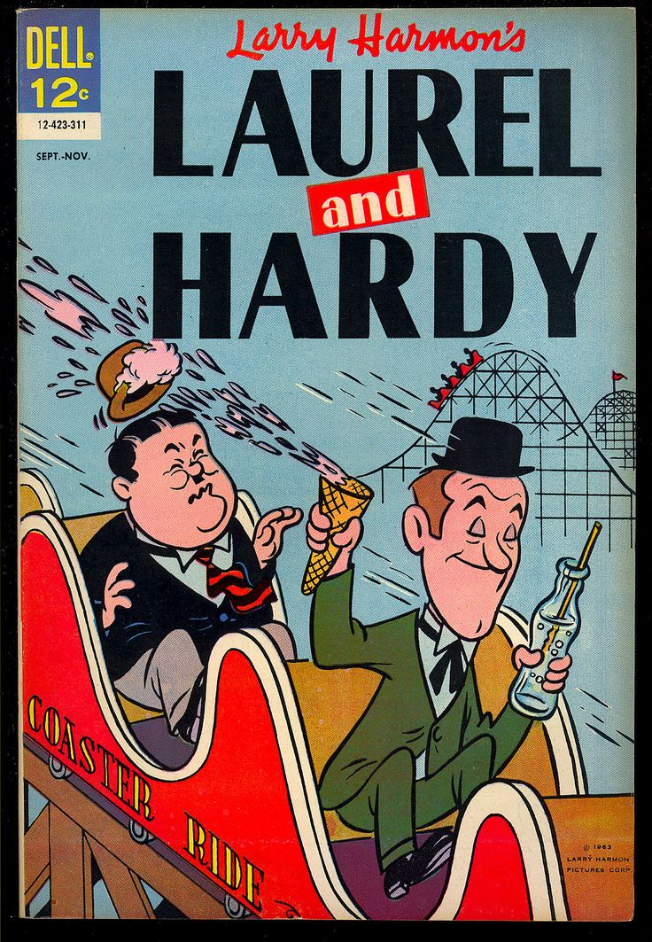 Laurel and Hardy #4 High Grade Dell File Copy Last Issue 1963 VF+
