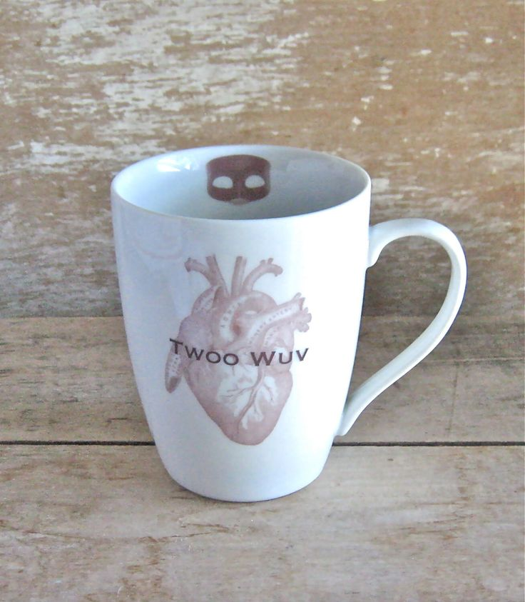Twoo Wuv Mug, Princess Bride, Wesley Buttercup, Marriage Gift, Masked Man, Dread Pirate Robers, Ready to Ship by SecondChanceCeramics on Etsy https://www.etsy.com/listing/203090949/twoo-wuv-mug-princess-bride-wesley