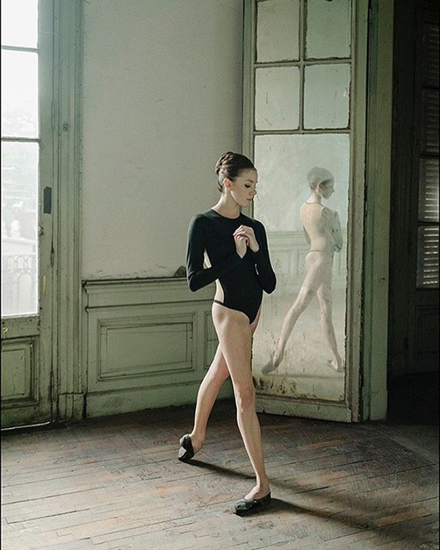 Ballerina Project in Paris: #Ballerina - @katieboren1 #BuenosAires #Argentina #Bodysuit by @wolfordfashion #Wolford #ballerinaproject_ #ballerinaproject #ballet #dance