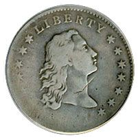 Check out these early silver dollar coins for sale that were issued 1794-1804 and  include the Flowing Hair silver dollars and Draped Bust silver dollars.