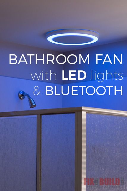 How to install a bathroom fan with LED lights and bluetooth speakers for an awesome upgrade to your old yellowed bathroom fan. Full tutorial inside!