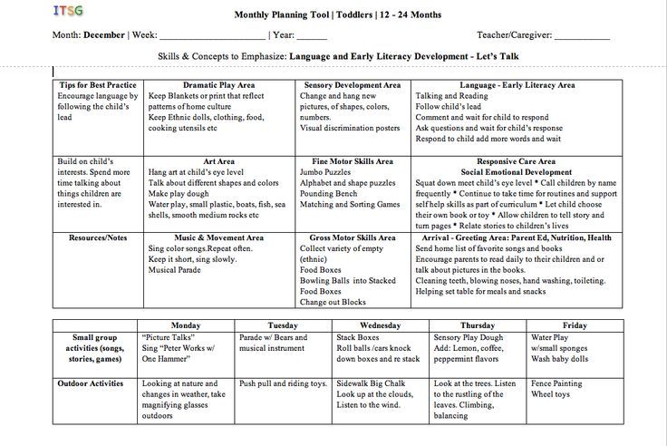 sample lesson plans preschool