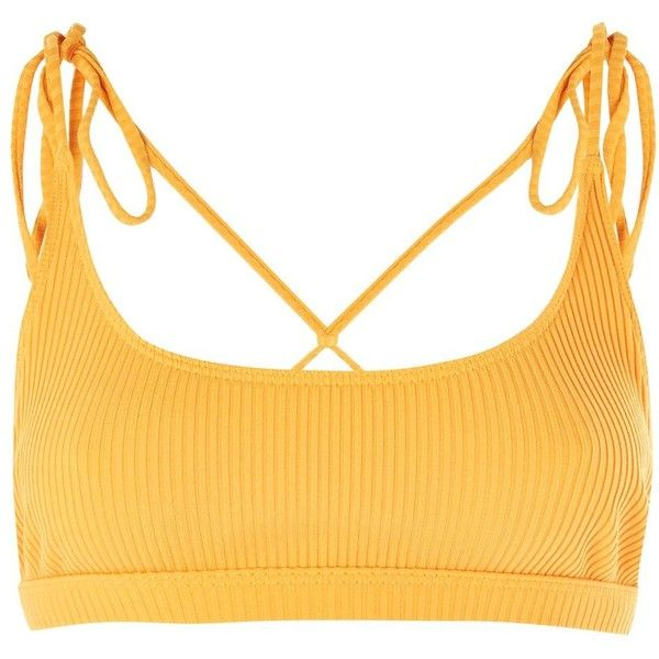 **Moorea Crop Bikini Top by Minimale Animale ($110) ❤ liked on Polyvore featuring swimwear, bikinis, bikini tops, swim tops, swim suit tops, swimsuit crop top, tankini tops and swimsuit tops