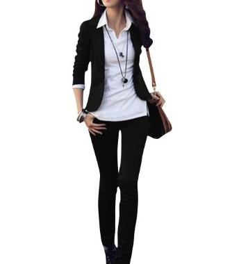 Stylish #Casual Suit #Coat Long Sleeve Solid Color Tops Blazer Black $14.96 .  Long Sleeves, Notched Lapel, One Button, Pure, Soild Color.  #fashion #women #meinstyleclothing