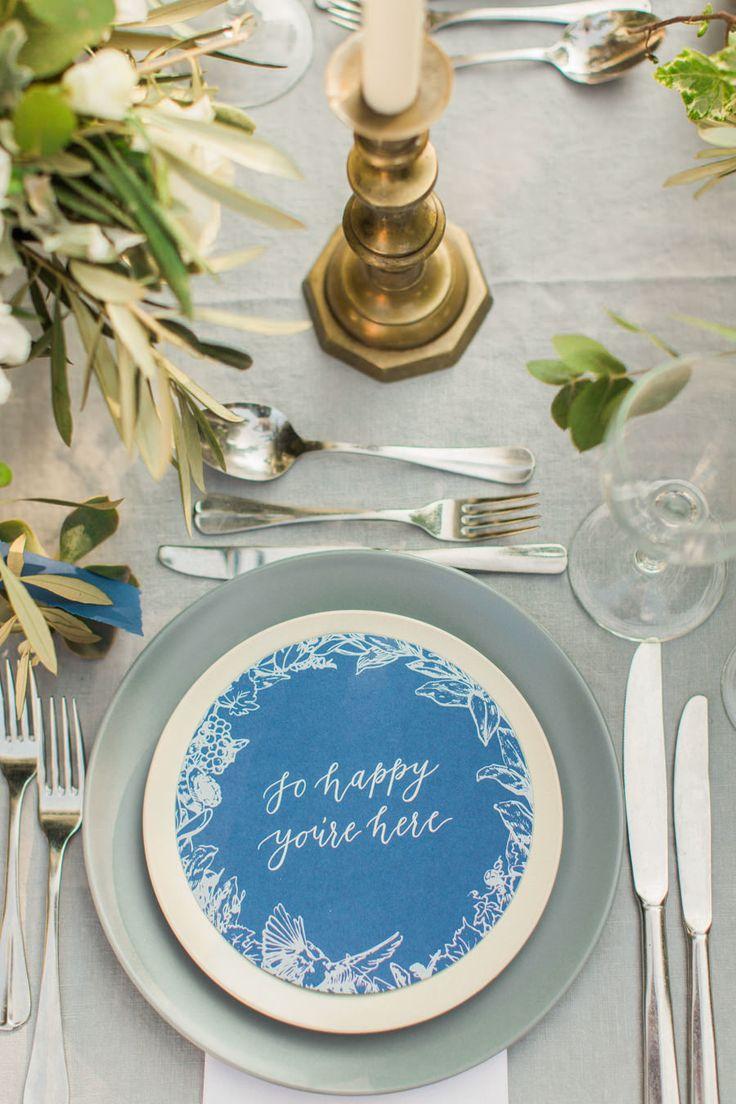 Photography: Anna Roussos - Photographer - annaroussos.com Calligraphy: Michaela McBride  - www.michaelamcbridecalligraphy.com Venue: Agreco Farm - www.agreco.gr   Read More on SMP: http://www.stylemepretty.com/destination-weddings/2016/02/01/rustic-elegant-crete-destination-wedding-2/