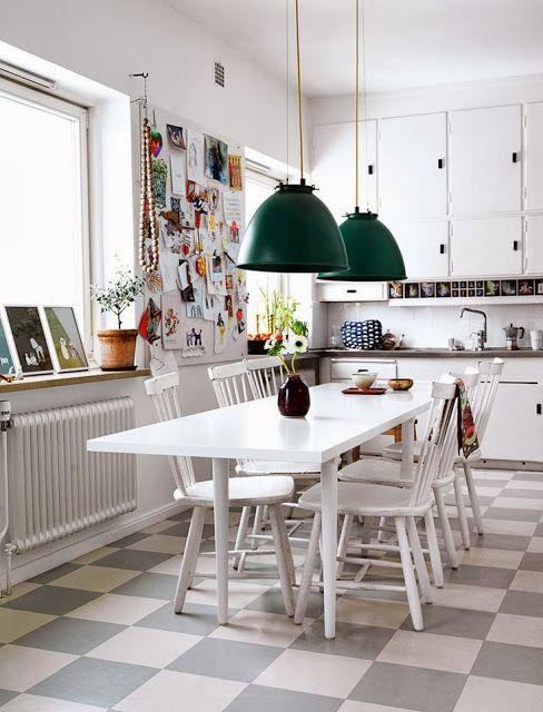 Get Your Inspirations: Pavimenti a scacchi/ Chess Floor | Cappello A Bombetta