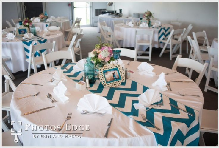 DIY Centerpiece and Chevron Table Runners