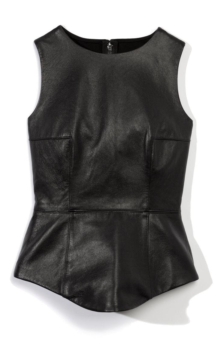 Tibi Leather Peplum Top at Moda Operandi ♥ #poststeampunk #antifashion  #fashion ♕ ♥♥♥ ♕
