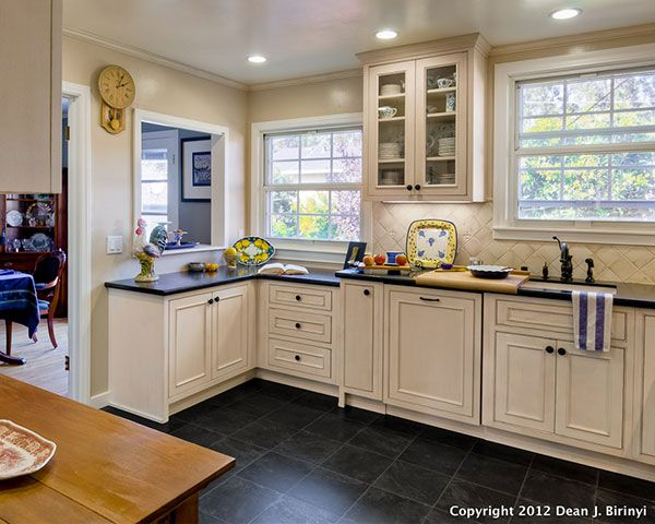 A Showplace Kitchen With Clean, Sleek Cabinets.
