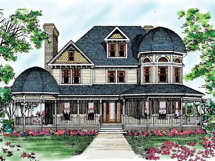 Eplans queen anne house plan romanesque beauty 3459 for Queen anne floor plans