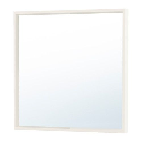 IKEA NISSEDAL Mirror White 65x65 cm Provided with safety film - reduces damage if glass is broken.