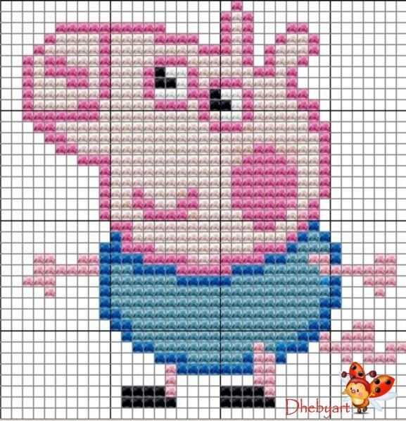 PEPPA PIG - CROSS STITCH OR BEAD PATTERN