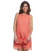 Petals Shift Dress- Coral  Available at Kim Taylor and Company for $68