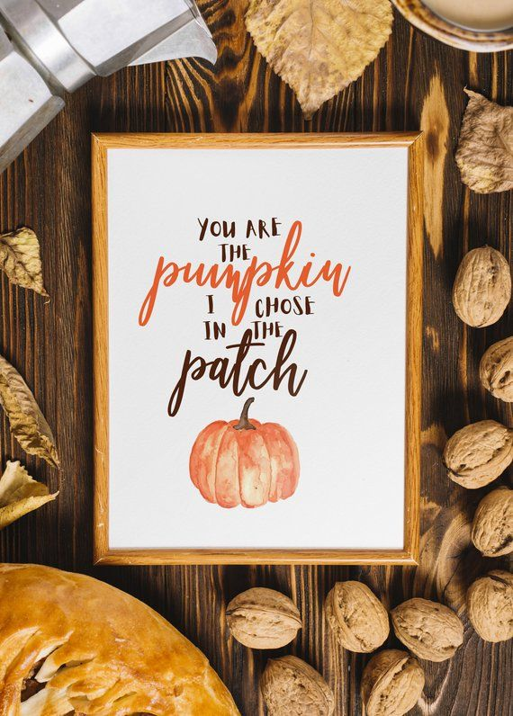 Fall Quote Wall Decor Instant Download Pumpkin Patch Fall Decor