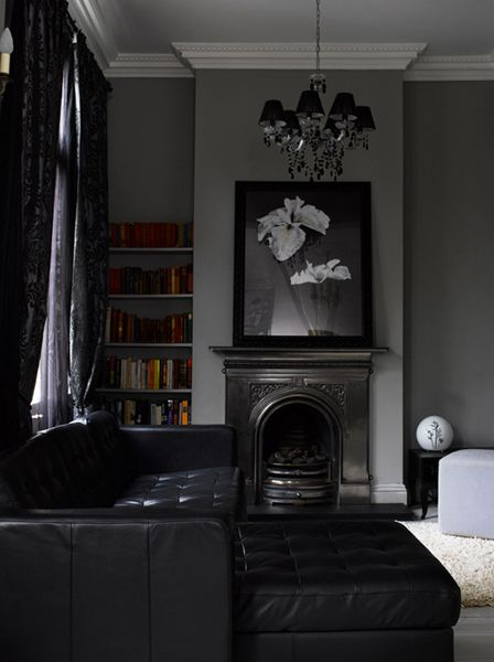 Loving the metallic fireplace surround! Modern Country Style: Modern Country Edwardian House Tour