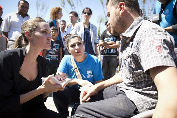 Angelina Jolie - UNHCR Special Envoy Angelina Jolie Meets With Syrian Refugees In Turkey
