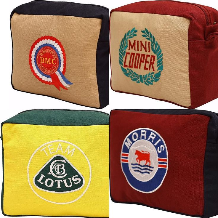 Team Send Him Victorious! Partnered by Woven Magic! Auto Icons in Toiletry/Wash Bags!! Cool bags for the Hot Wheels!! #wovenmagic #shv #sendhimvictorious #stuartking #morrisbag #lotusbag #mini #minicooper #minicooperbag #bmc #mcbag