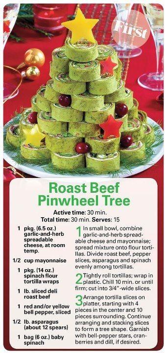 Roast Beef Pinwheel Tree