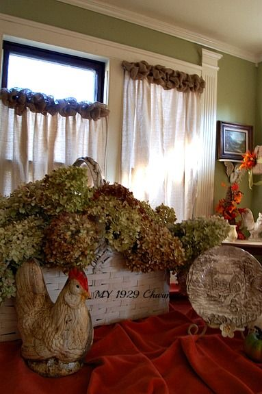 Drop cloth / burlap curtain tutorial updated from My 1929 Charmer