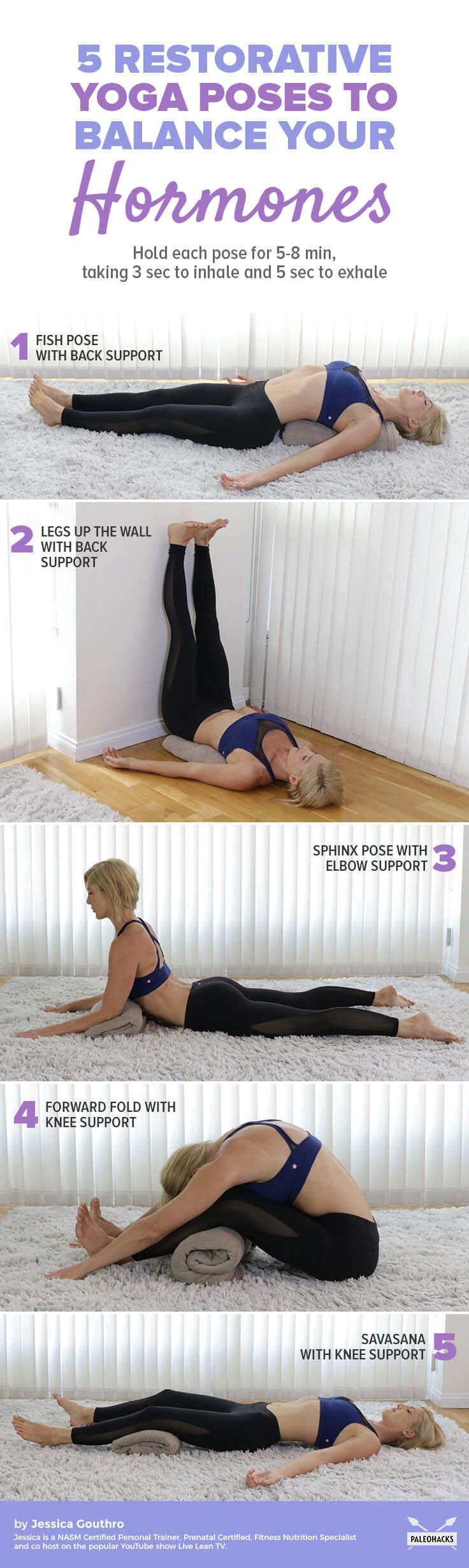 Have you noticed your hormones may be off-balance? Here is a relaxing yoga routine to help get you back on track. Get the full yoga sequence here: http://paleo.co/yogaforhormones